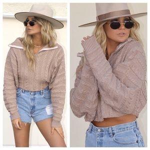 Growler Half Zip Faux Turtleneck Sweater